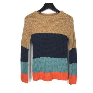 Sparrow Anthropologie Olaf Colorblock Sweater S
